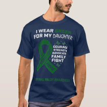 Mom Dad I Wear Green For Daughter Cerebral Palsy T-Shirt