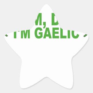 MOM, DAD I'M GAELIC T-Shirts.png Star Sticker