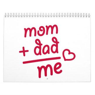 Mom + Dad me heart Calendar