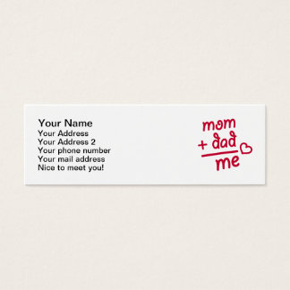 Mom + Dad me heart Mini Business Card