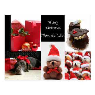 Mom & Dad Merry Christmas card Postcard