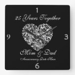 MOM &DAD SILVER 25th Anniversary GIFT Wall Clock