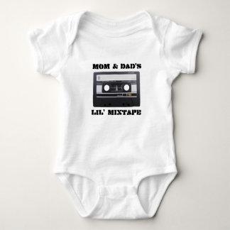 Mom & Dad's Lil' MixTape Baby Jersey, White Baby Bodysuit