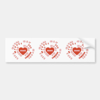 Mom Different Languages (Mother's Day & Birthday) Bumper Sticker