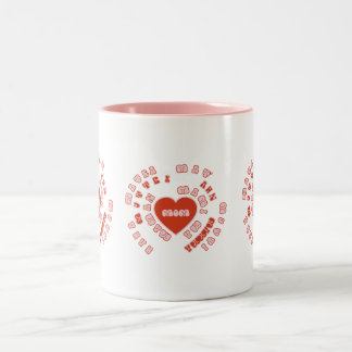 Mom Different Languages (Mother's Day & Birthday) Two-Tone Coffee Mug