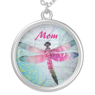 Mom DragonFly Vintage Necklace