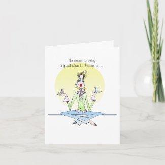 Mom E. Person birthday or friendship Card card
