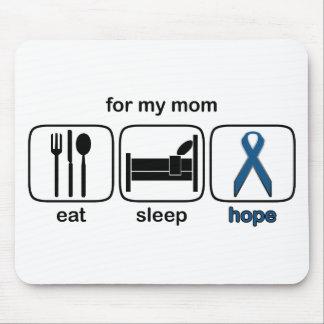 Mom Eat Sleep Hope - Colon Cancer Mouse Pad