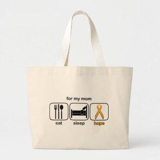 Mom Eat Sleep Hope - Leukemia Canvas Bags
