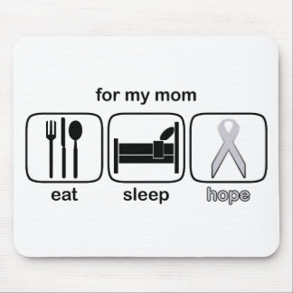Mom Eat Sleep Hope - Lung Cancer Mouse Pad
