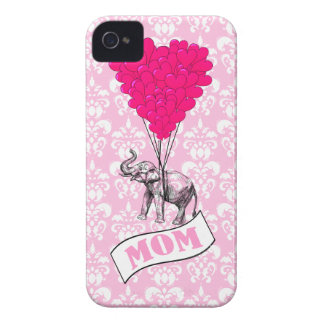 Mom, elephant and heart balloons iPhone 4 Case-Mate case