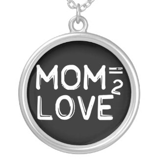 Mom Equals Love Squared Mother's Day Necklace