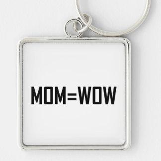 Mom Equals Wow Keychain