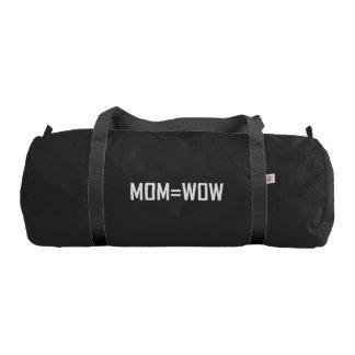 Mom Equals Wow White Duffle Bag