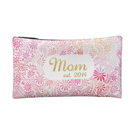 Mom est. 2014 makeup bag
