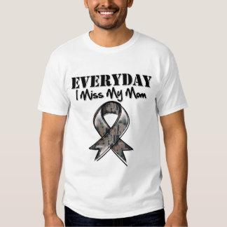 Mom - Everyday I Miss My Hero Military Tee Shirt