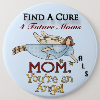 MOM FAC Angel#4  Button Pin