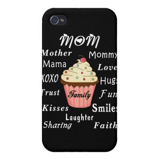 Mom Family Cupcake Case For iPhone 4