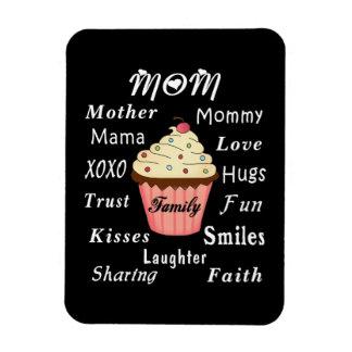 Mom Family Cupcake Magnet