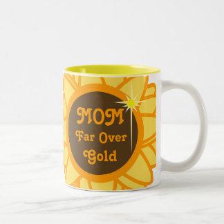 MOM Far Over Gold-Customize Two-Tone Coffee Mug