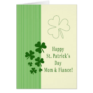 Mom & Fiance  Happy St. Patrick's Day Greeting Cards