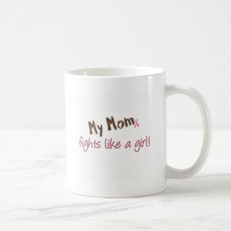 Mom Fights Like a Girl Coffee Mugs