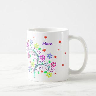 Mom Flower Cup With Custom We *Heart* You Mug