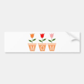 MOM Flower Pots Bumper Sticker