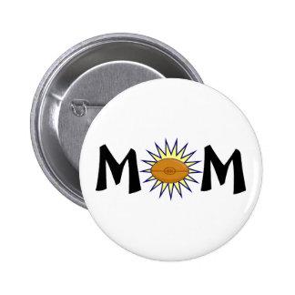 Mom Football 2 Inch Round Button
