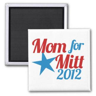 Mom for Mitt Romney 2 Inch Square Magnet