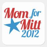 Mom for Mitt Romney Square Stickers