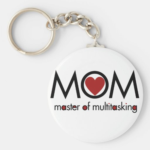 MOM for mothers day love Basic Round Button Keychain