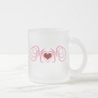 Mom Frosted Glass Coffee Mug