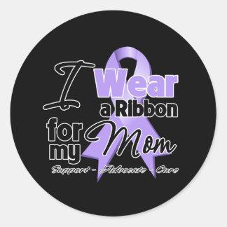 Mom - General Cancer Ribbon Classic Round Sticker