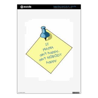 Mom Gift: If Mama Ain't Happy .. Memo, Thumbtack iPad 3 Decals
