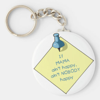 Mom Gift: If Mama Ain't Happy .. Memo, Thumbtack Keychain
