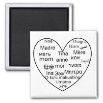 Mom Gift Love mother Best mom heart Magnet
