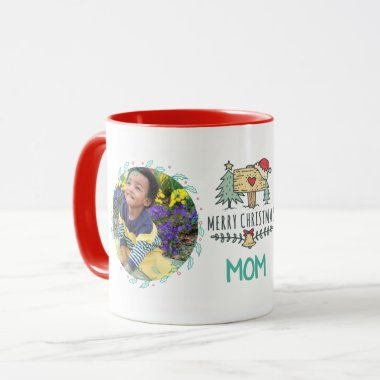 MOM Gifts FUNNY Quotes ADD Kid Photos Mother Love Mug
