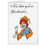 Mom Graduates Orange Card