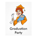Mom Graduates Orange Flyer