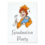 Mom Graduates Orange Invite