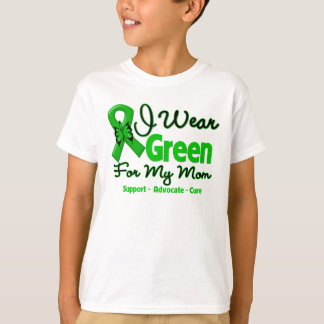 Mom - Green  Awareness Ribbon T-Shirt