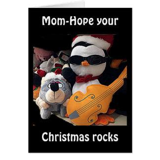 "MOM-H0PE Y0UR CHRISTMAS ""R0CKS""-YOU ROCK CARD"