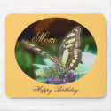 Mom Happy Birthday Butterfly Mousepad mousepad