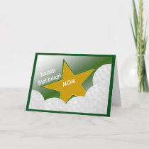 Mom - Happy Birthday Golf Loving Mother! Card
