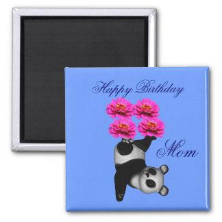 Mom Happy Birthday Juggling Panda Magnet