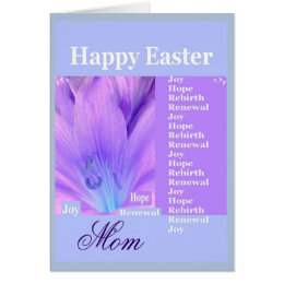 MOM - Happy Easter with Lily Card