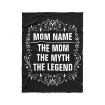 Mom Happy Mother's Day Fleece Blanket
