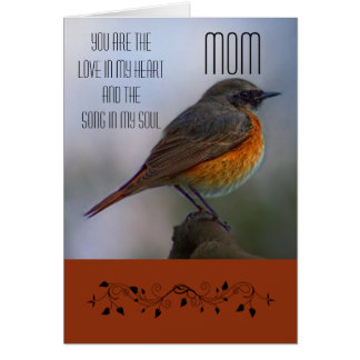 Mom / Happy Mother's Day - Common Redstart Card
