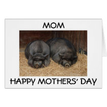 """""""MOM, HAPPY MOTHERS' DAY"""" FROM SON OR DAUGHTER CARD"""
